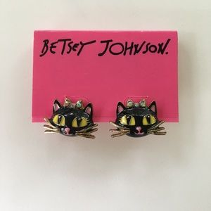 Betsey Johnson Cat Studs